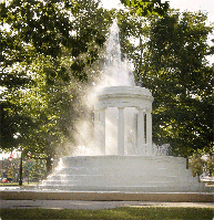 Brooks Memorial Fountain in Marshall